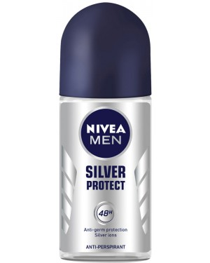 Nivea roll-on men silver protect 50ml (εισ.)