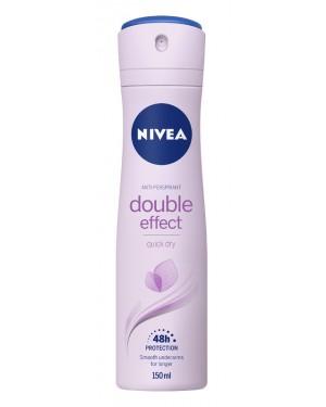 Nivea double effect γυναίκειο αποσμητικό σπρέι 150ml (εις.)