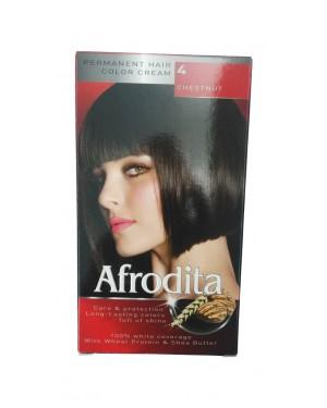 Βαφή μαλλιών μόνιμη Afrodita No4 καστανό σκούρο