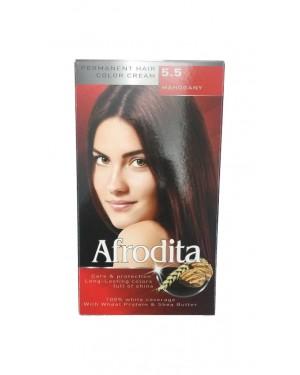 Βαφή μαλλιών μόνιμη Afrodita No5.5 μαόνι