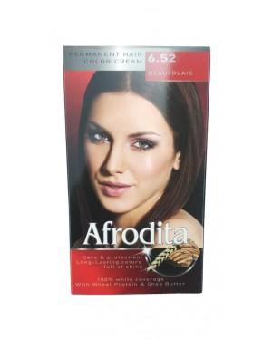 Βαφή μαλλιών μόνιμη Afrodita No6.52 μποζολέ