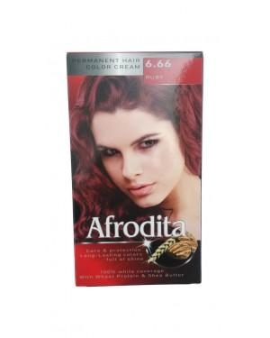 Βαφή μαλλιών μόνιμη Afrodita No6.66 ουμπινί