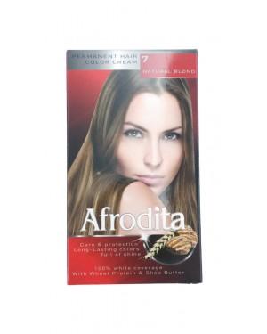 Βαφή μαλλιών μόνιμη Afrodita No7 φυσικό ξανθό
