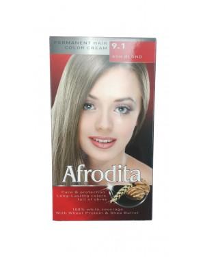 Βαφή μαλλιών μόνιμη Afrodita No9.1 ξανθό σαντρέ