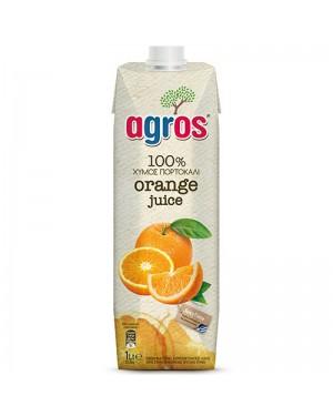 Χυμός Φυσικός Πορτοκάλι 100% Agros 1L