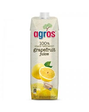 Χυμός Φυσικός Γκρέιπφρουτ Agros 1L