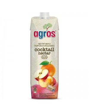 """Χυμός Nectar 3 φρούτα """"Agros"""" 1L"""
