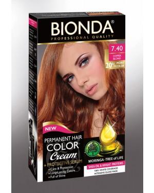 Βαφή μαλλιών μόνιμη Bionda Professional No7.40