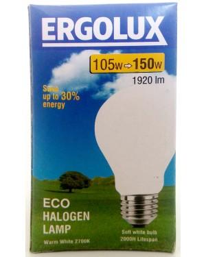 Λάμπα αλογόνο Ergolux λευκή Ε27-105 / 150W βιδωτή