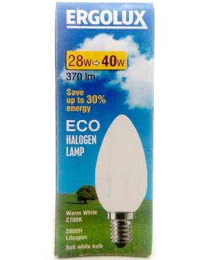 Λάμπα αλογόνο Ergolux λευκή Ε14-28 / 40W κερί βιδωτή