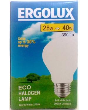 Λάμπα αλογόνο Ergolux λευκή Ε27-28 / 40W βιδωτή