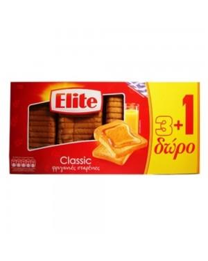 Φρυγανιές σίτου ELITE 3+1 Δώρο 125gr
