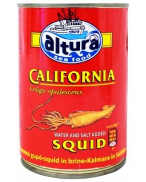 Καλαμάρια Καλιφόρνιας Altura σε φυσικό χυμό 370gr