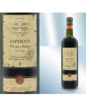 """Κόκκινο Κρασί Ξηρό """"Saperavi"""" Casa Veche 13% 750ml"""