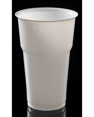Ποτήρι λευκό φραπέ lariplast 330ml 50τεμ