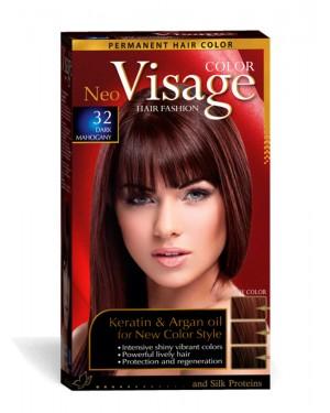 Βαφή μαλλιών Visage Νο 32 σκούρο μαόνι