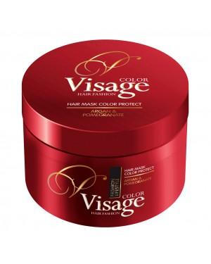 Μάσκα Visage για βαμμένα μαλλιά με Argan Oil, Ρόδι 500ml