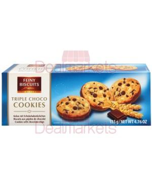 Μπισκότα Feiny cookies με σοκολάτα 135gr