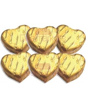 Κεράσματα Oscar σοκ. καρδιά πραλ. φράουλα χρυσό 3,5Kg