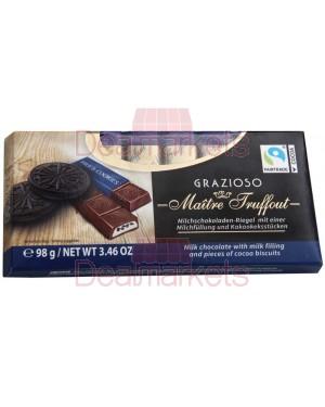 Σοκ. γάλακτος Maitre Truffout grazioso μπισκότο κακάου 98gr