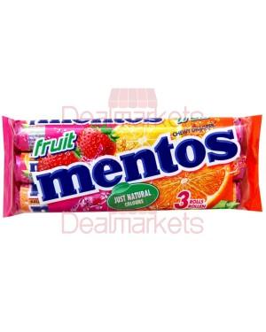 Καραμέλες Mentos φρούτων 3 * 38gr