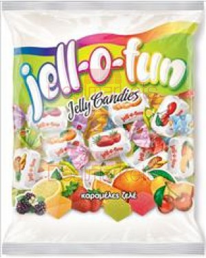 Amp καραμέλες ζελέ Jell-O-fun διαφ. γεύσεις φρούτων 400gr