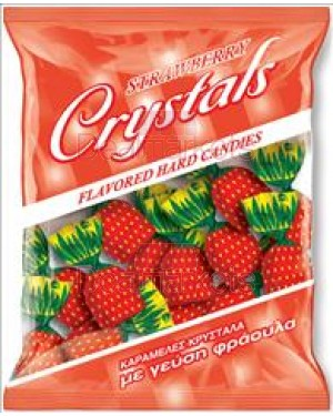 Amp καραμέλες crystal με γεύση φράουλα 300gr