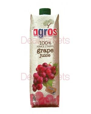 Χυμός Φυσικός AGROS κόκκινο σταφύλι 1L