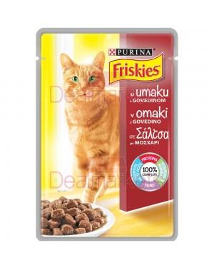 Γατοτροφή Friskies με μοσχάρι 85gr
