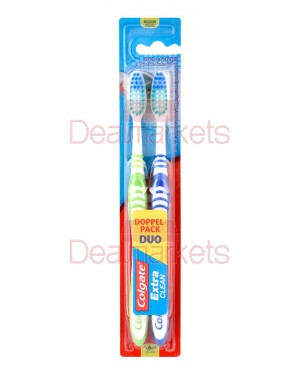 Colgate οδοντόβουρτσα extra clean duo pack 2 τεμ