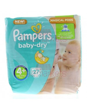 Pampers πάνες active baby dry no 4+ (27 τεμ)