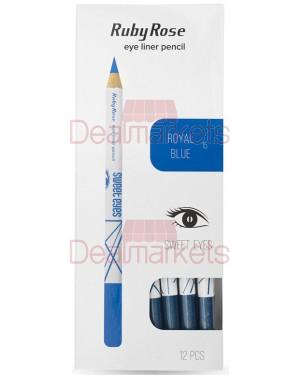 Ruby rose μολύβι ματιών 096 νο 15 (royal blue) display 12τεμ
