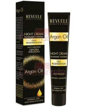 Κρέμα νυκτός Revuele Αντιρυτιδική με αργκαν 50ml