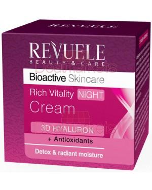 Revuele bioactive αντιοξειδωτική κρέμα νυκτός 3d hyalouron 50ml