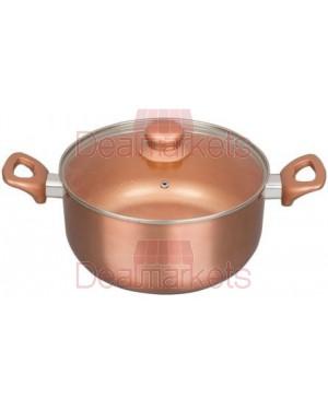 Keystone κατσαρόλα κεραμική αλουμινίου copper επαγ.καπακι νο 22