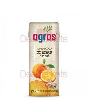 """Χυμός Πορτοκάλι Φρουτοποτό """"Agros"""" 250ml"""
