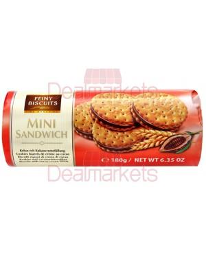 Μπισκότα Feiny Biscuits mini sandwich κρέμα κακάο 180gr