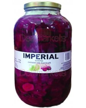Λάχανο τουρσί με παντζάρι IMPERIAL 2,5Kg