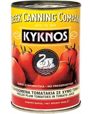 Ντομάτες αποφλοιωμένες KYKNOS 400gr