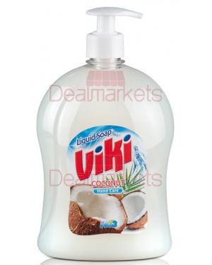 Υγρό κρεμοσάπουνο Viki Καρύδα με αντλία 1lt