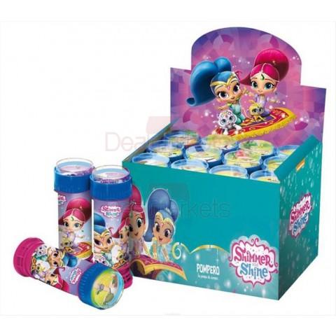 Nickelodeon shimmer and shine παιχνίδι με σαπουνόφουσκες 60ml display 12τεμ