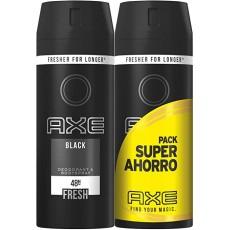 Axe b/spray black twin duo pack  2 x 150ml (εισ.)