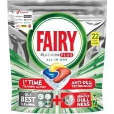 Fairy ταμπλέτες πιάτων platinum plus 20τεμ (εισ.)