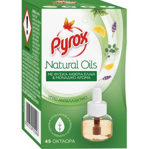 Pyrox υγρό ανταλλακτικό natural oil για 45 νύχτες